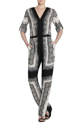 Ellah Scarf-Print Jumpsuit