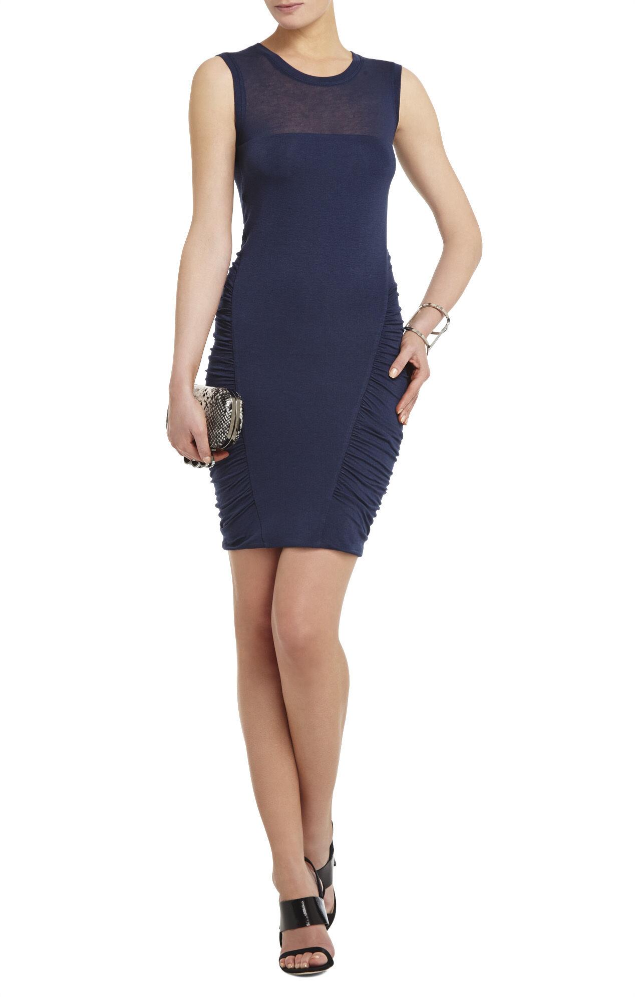 Kenzee Sleeveless Ruched-Skirt Dress