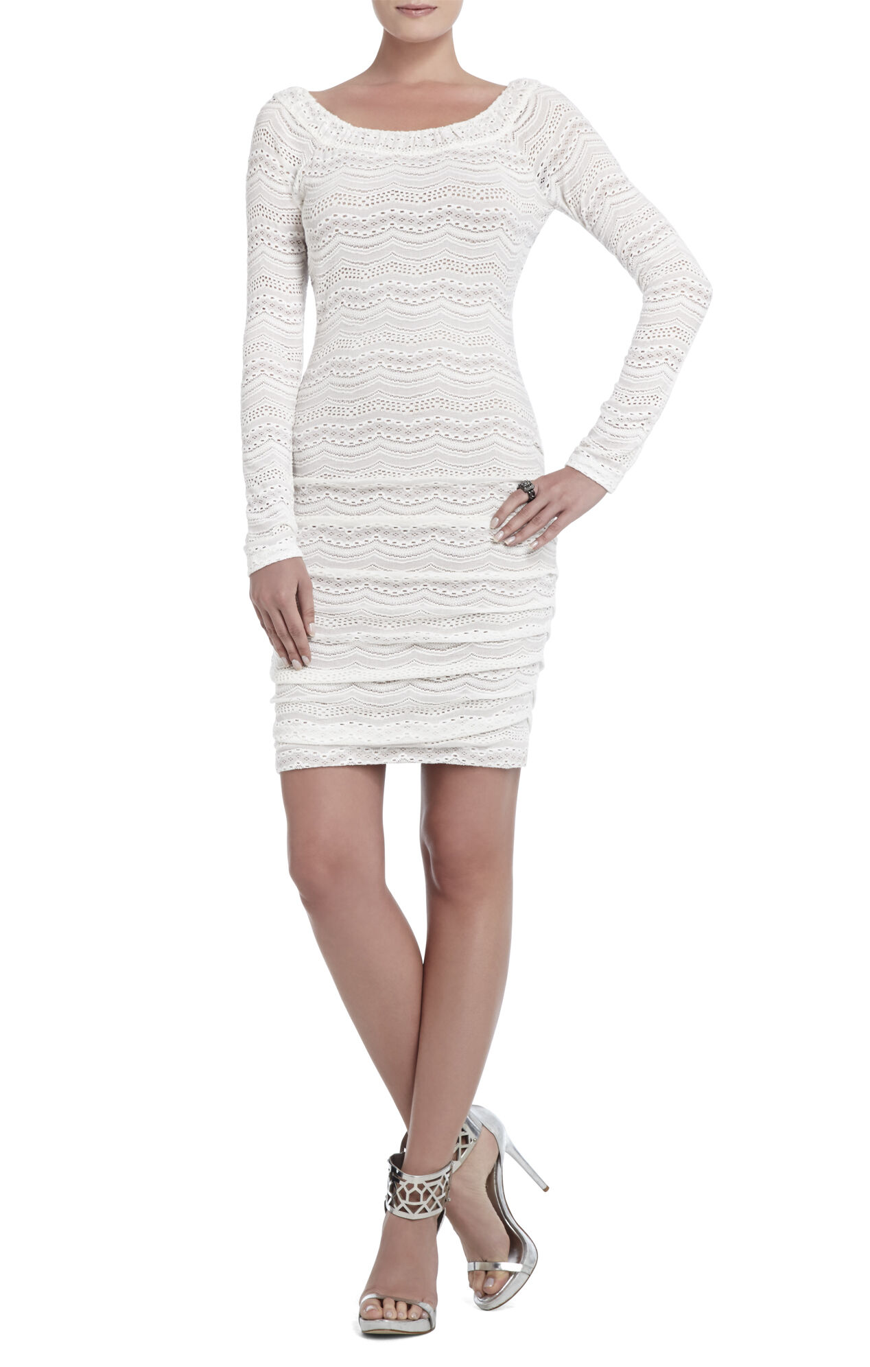 Halle Lace-Shirred Dress
