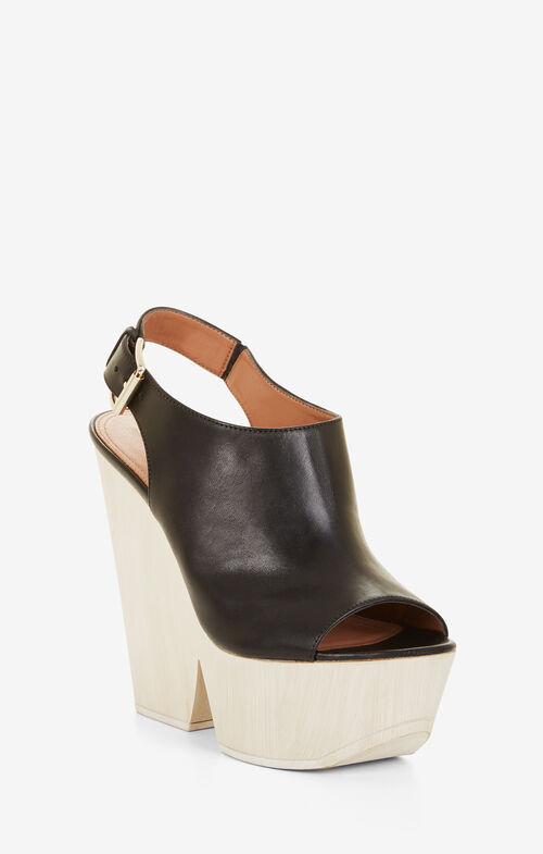 Rafaela Leather Wedge Sandals