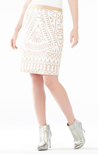 Paxton Mosaic Tile Sequined Power Skirt