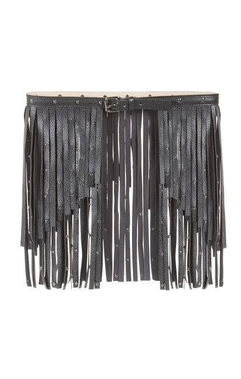 Studded Fringe Belt