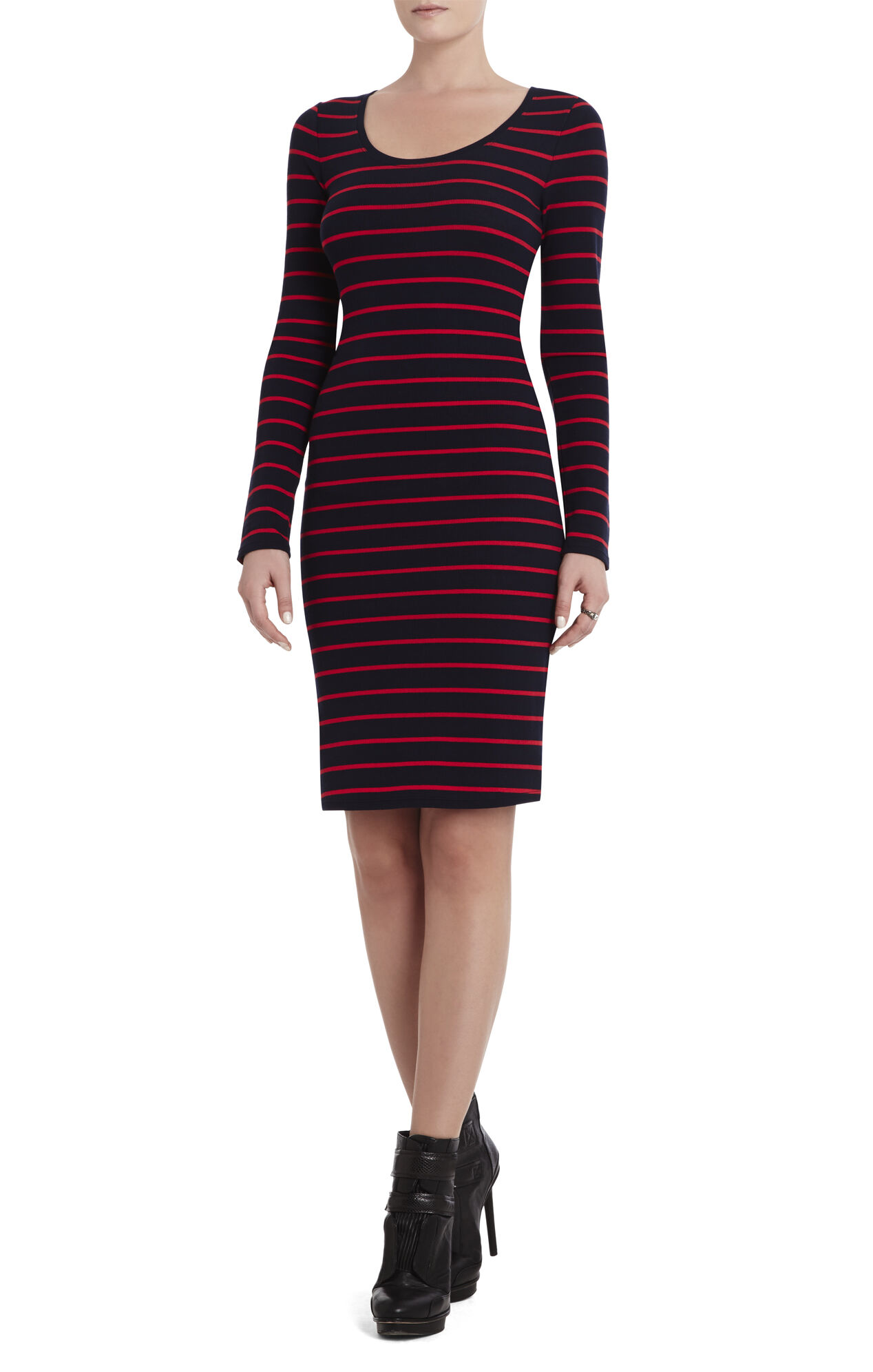 Mynn Long-Sleeve Scoop-Neck Dress