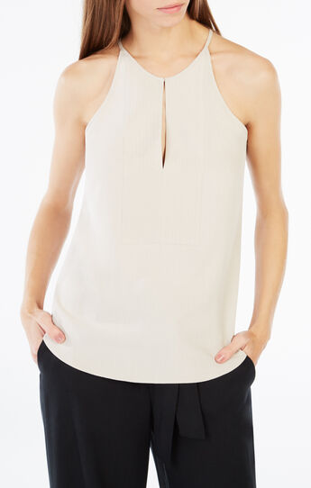 Mery Halter-Neck Silk Tank Top