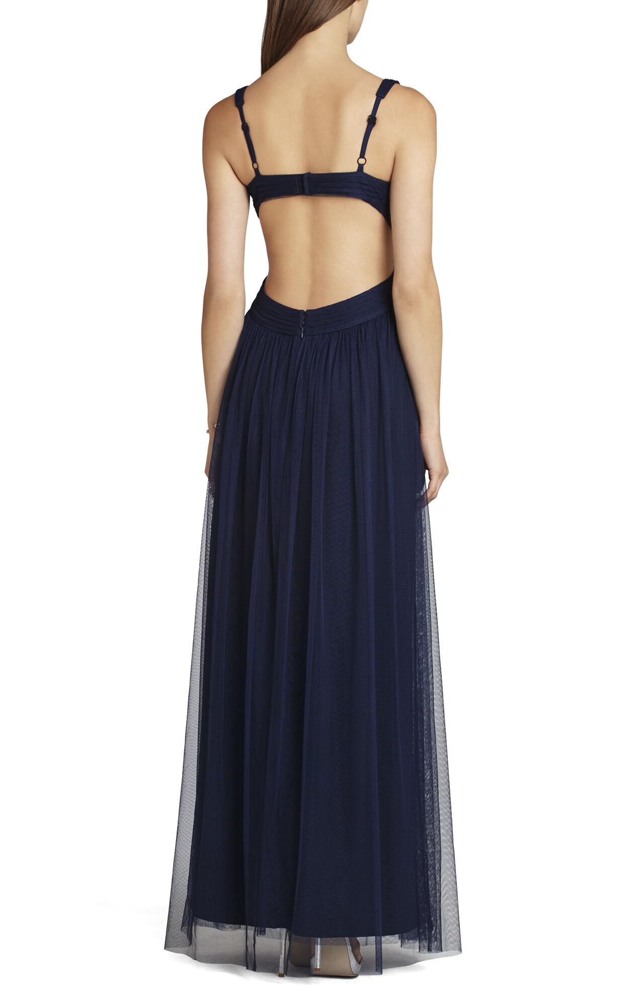 Mara V-Neck Cut-Away Back Gown