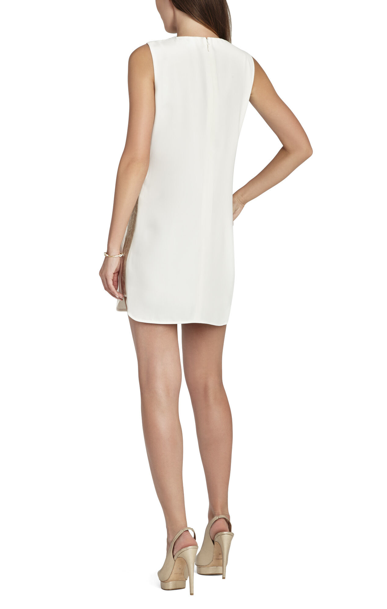 Onyx Beaded Side-Panel Dress