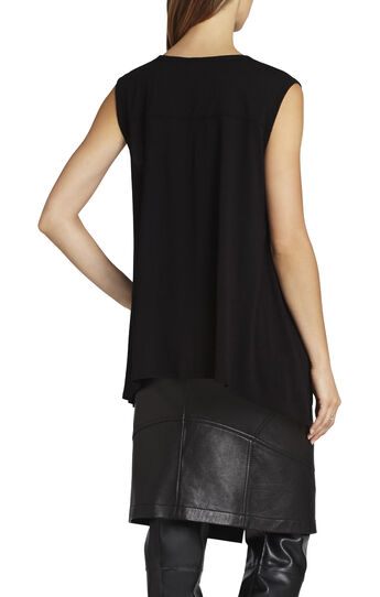 Delaney Sleeveless Tulle-Insert Top
