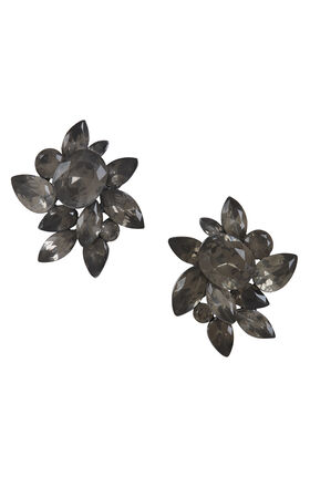 Floral Stone Stud Earrings