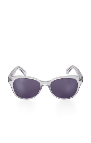 Mirrored-Lens Wayfarer Sunglasses