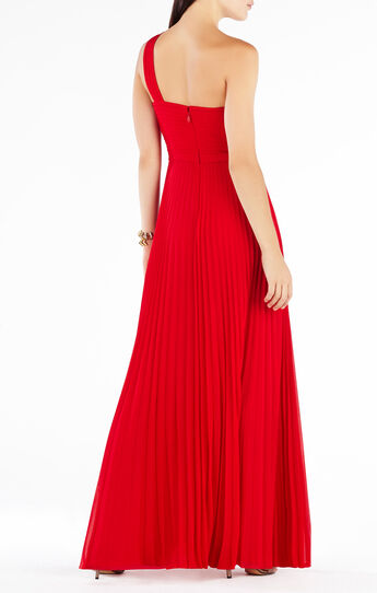 Gwendolyn One-Shoulder Pleated Gown