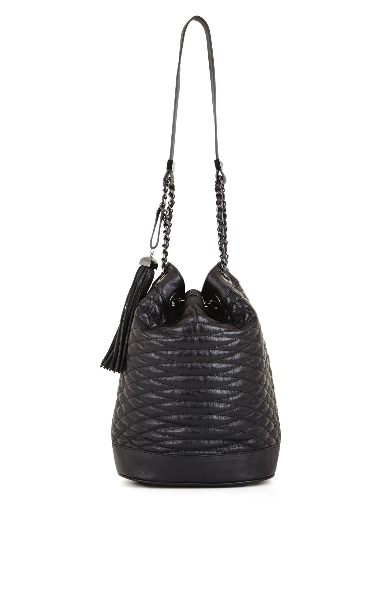 Florance Quilted Leather Bucket Bag