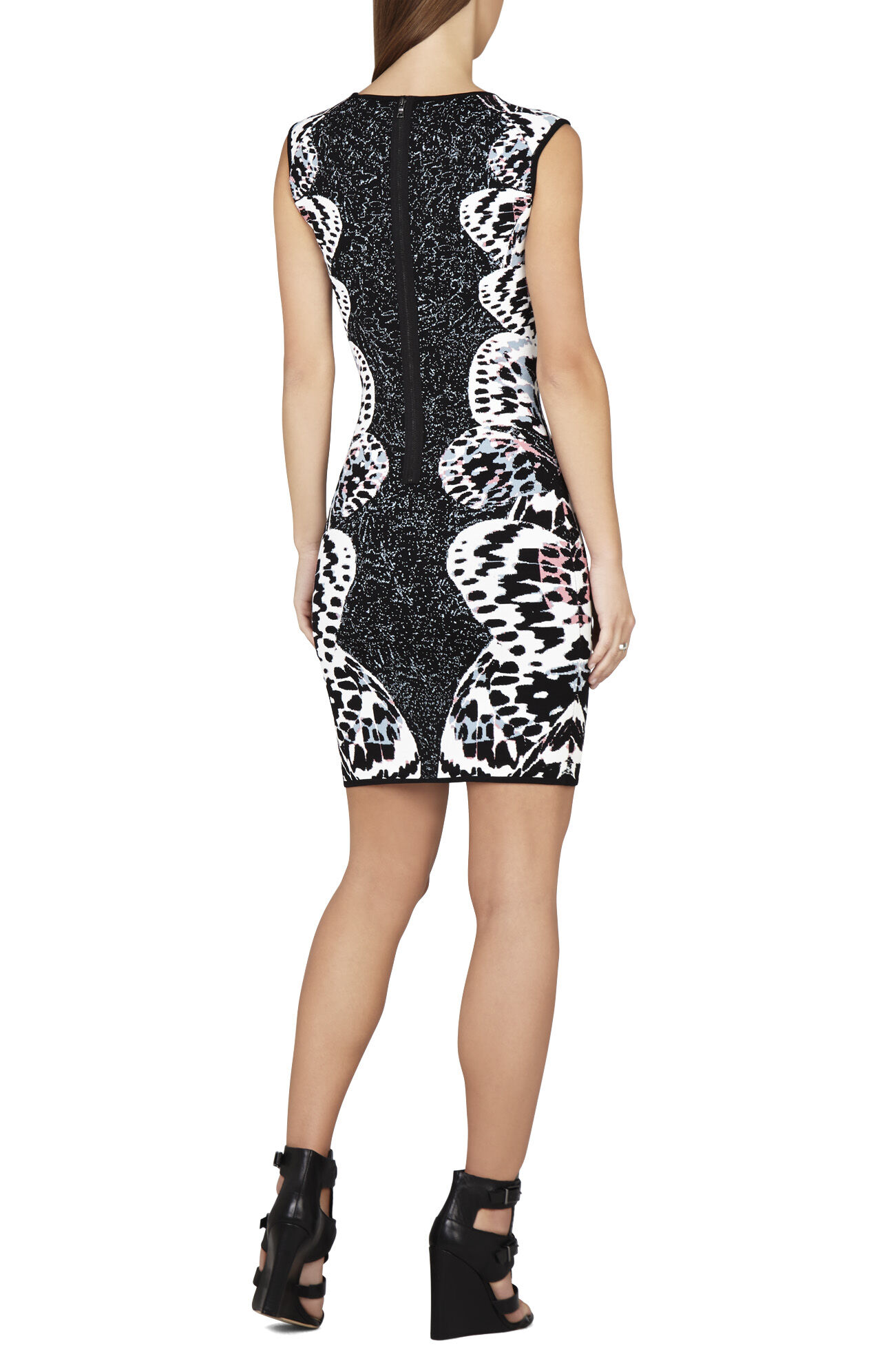 Audrie Butterfly Jacquard Dress