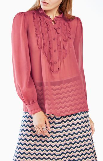 Leola Ruffled Silk Blouse