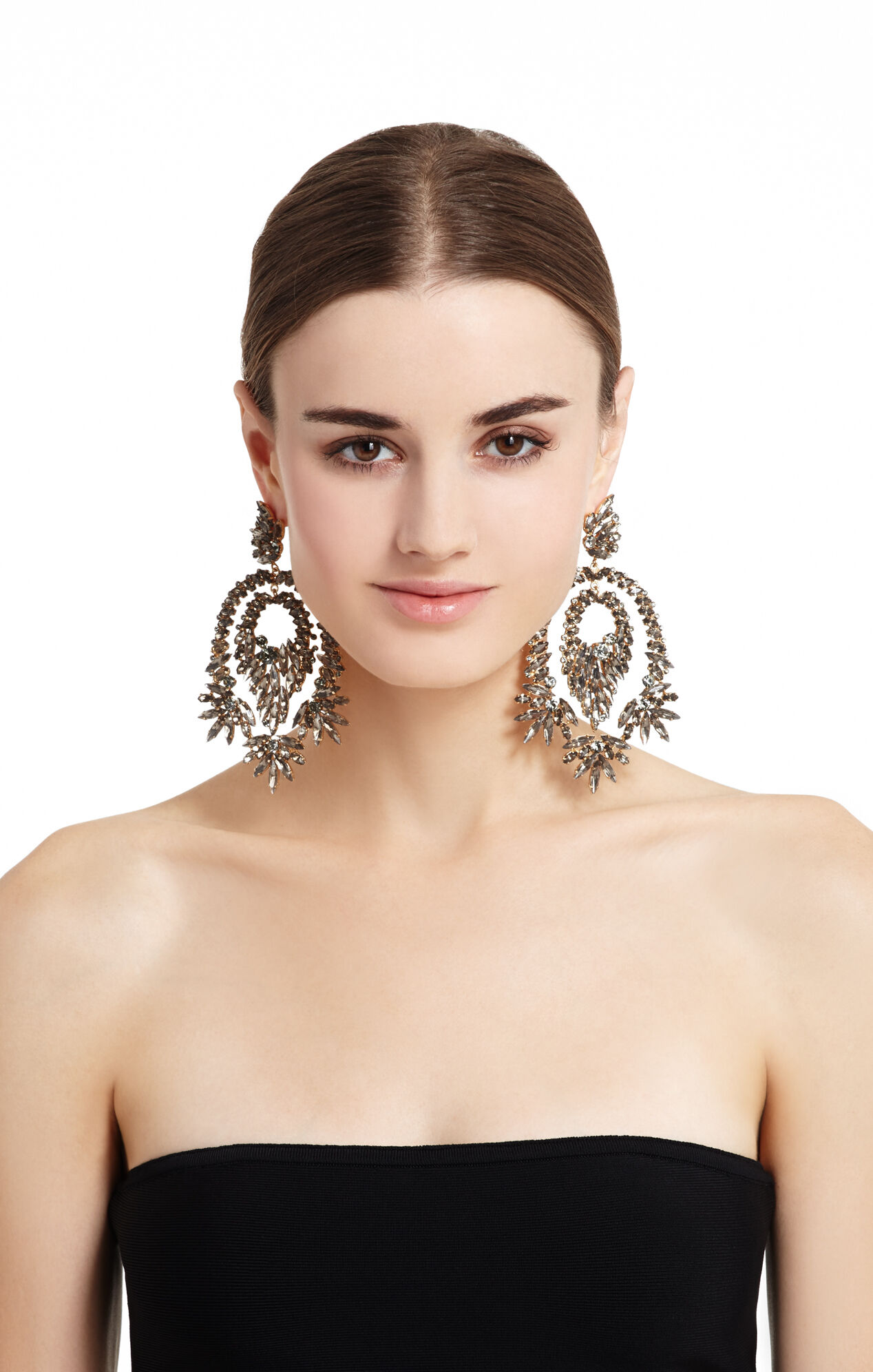 Oversized Rhinestone Cocktail Earrings
