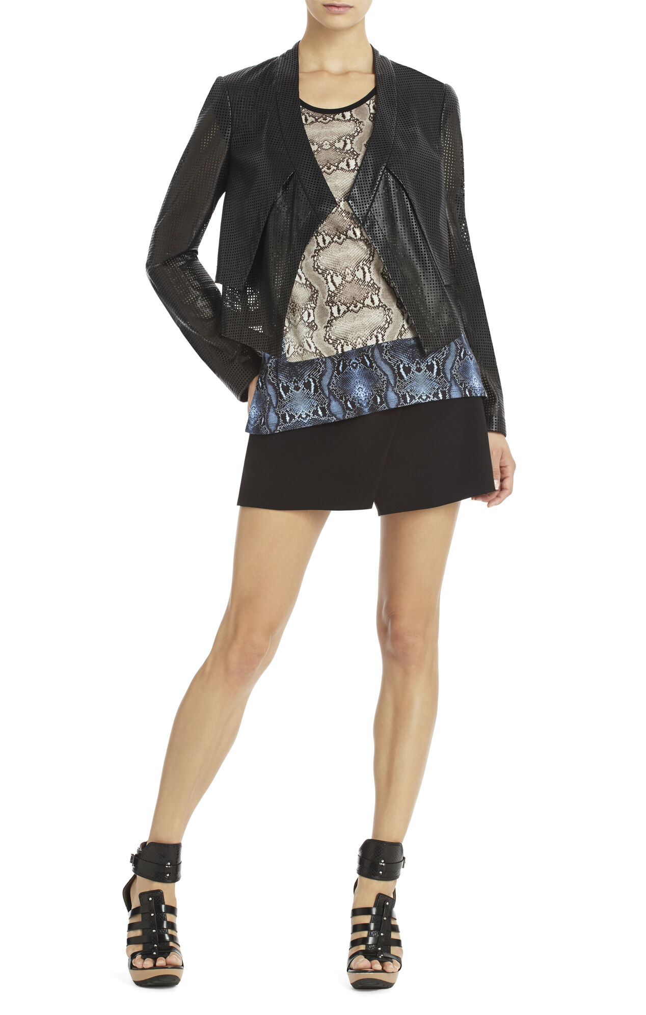 Luke Perforated Cropped Jacket
