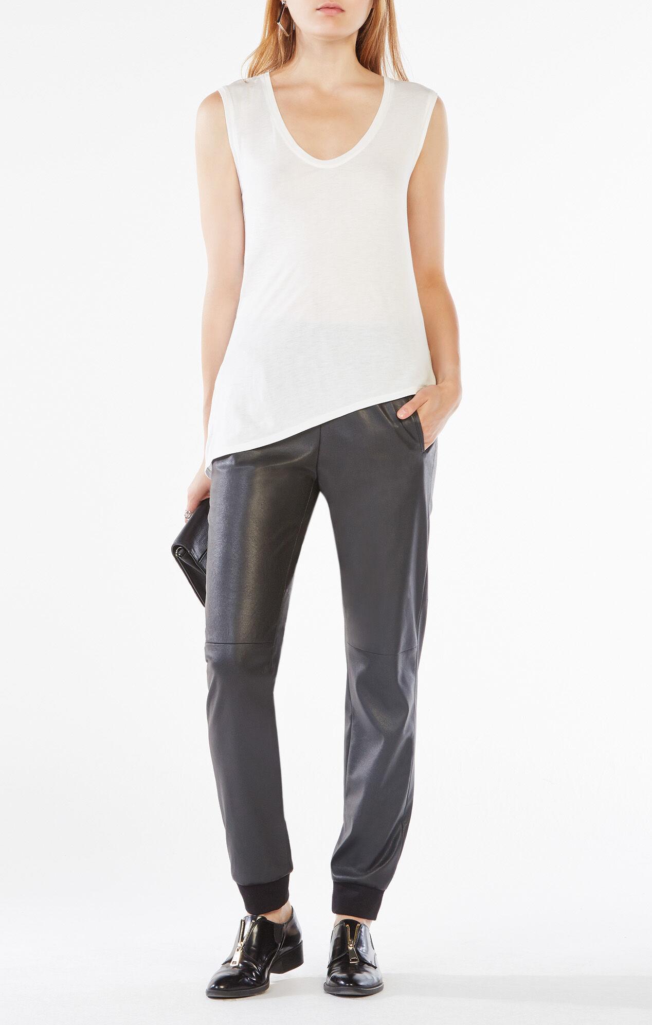 Sugi Faux-Leather Jogger Pant
