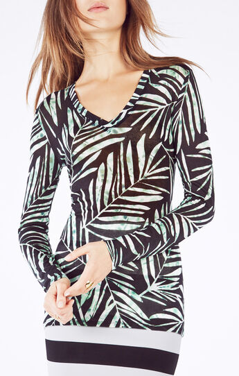 Jan Palms Print Top