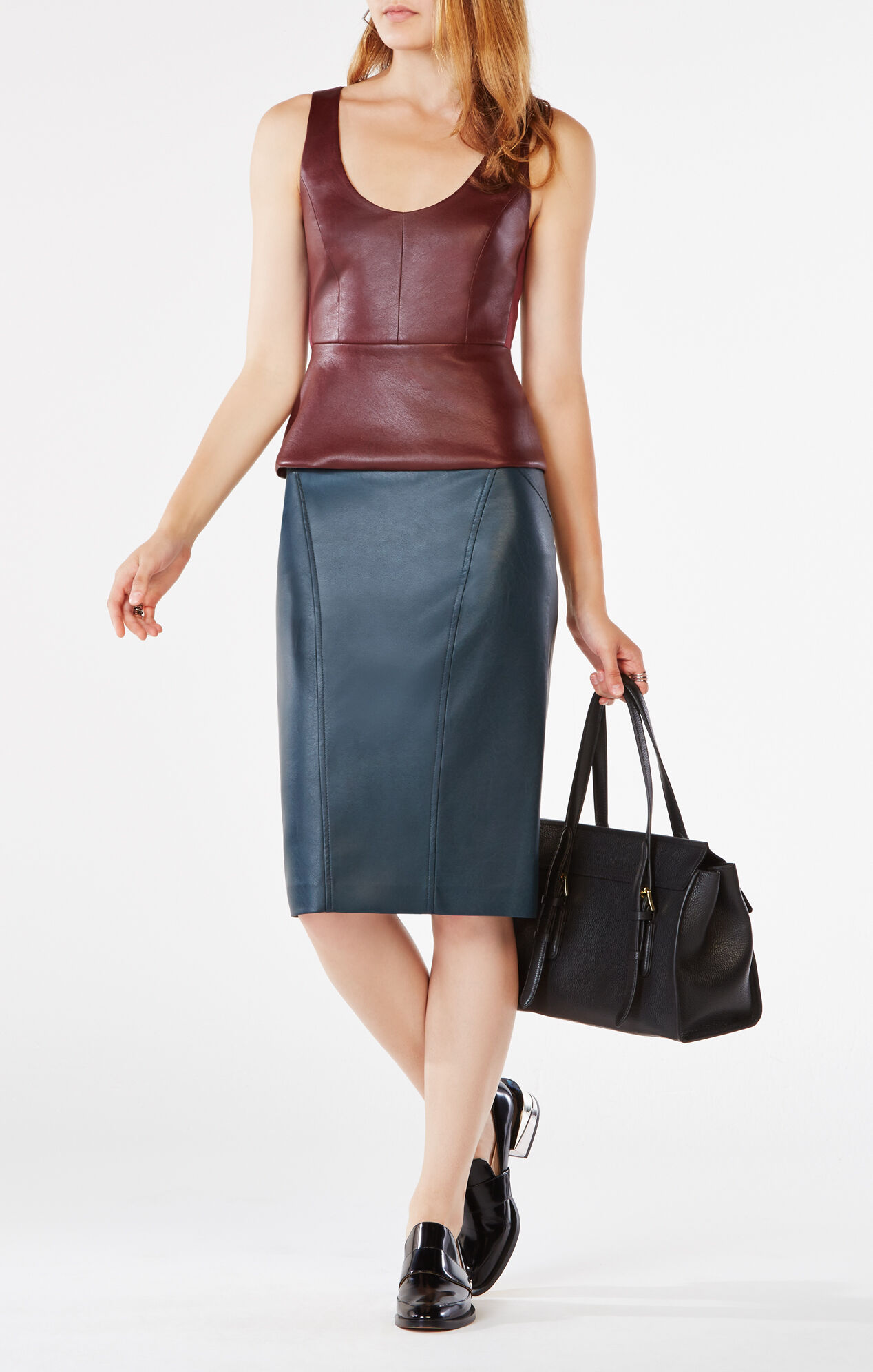 natilie faux leather skirt