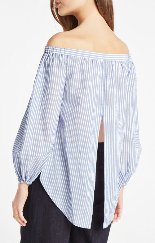 Ellsie Off-The-Shoulder Striped Top