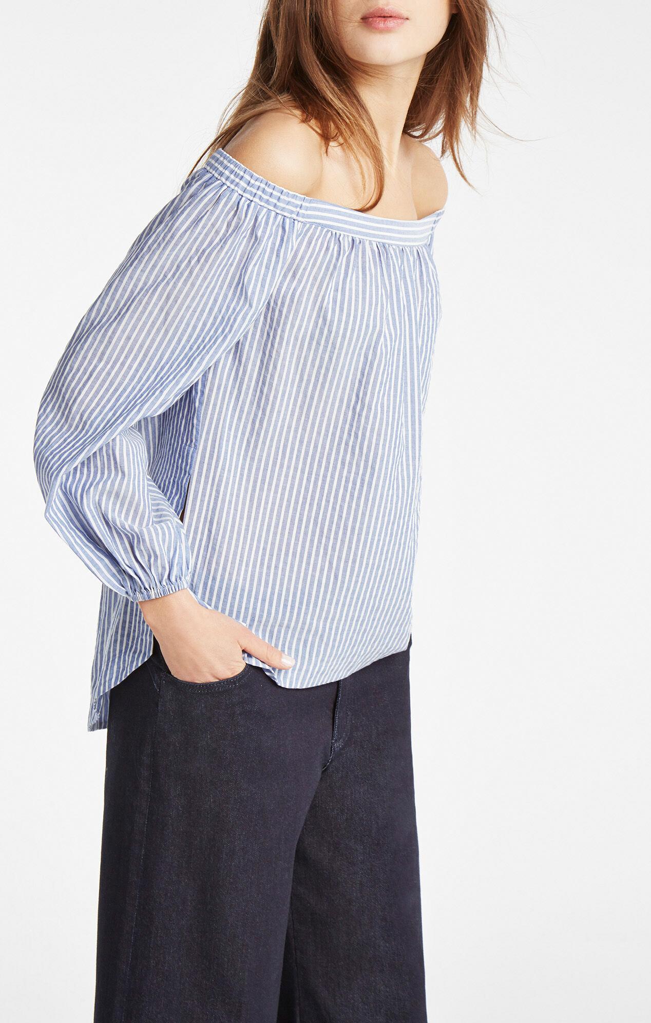 Ellsie Off-The-Shoulder Striped Top