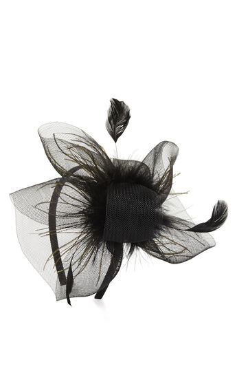 Feather Net Fascinator Headband