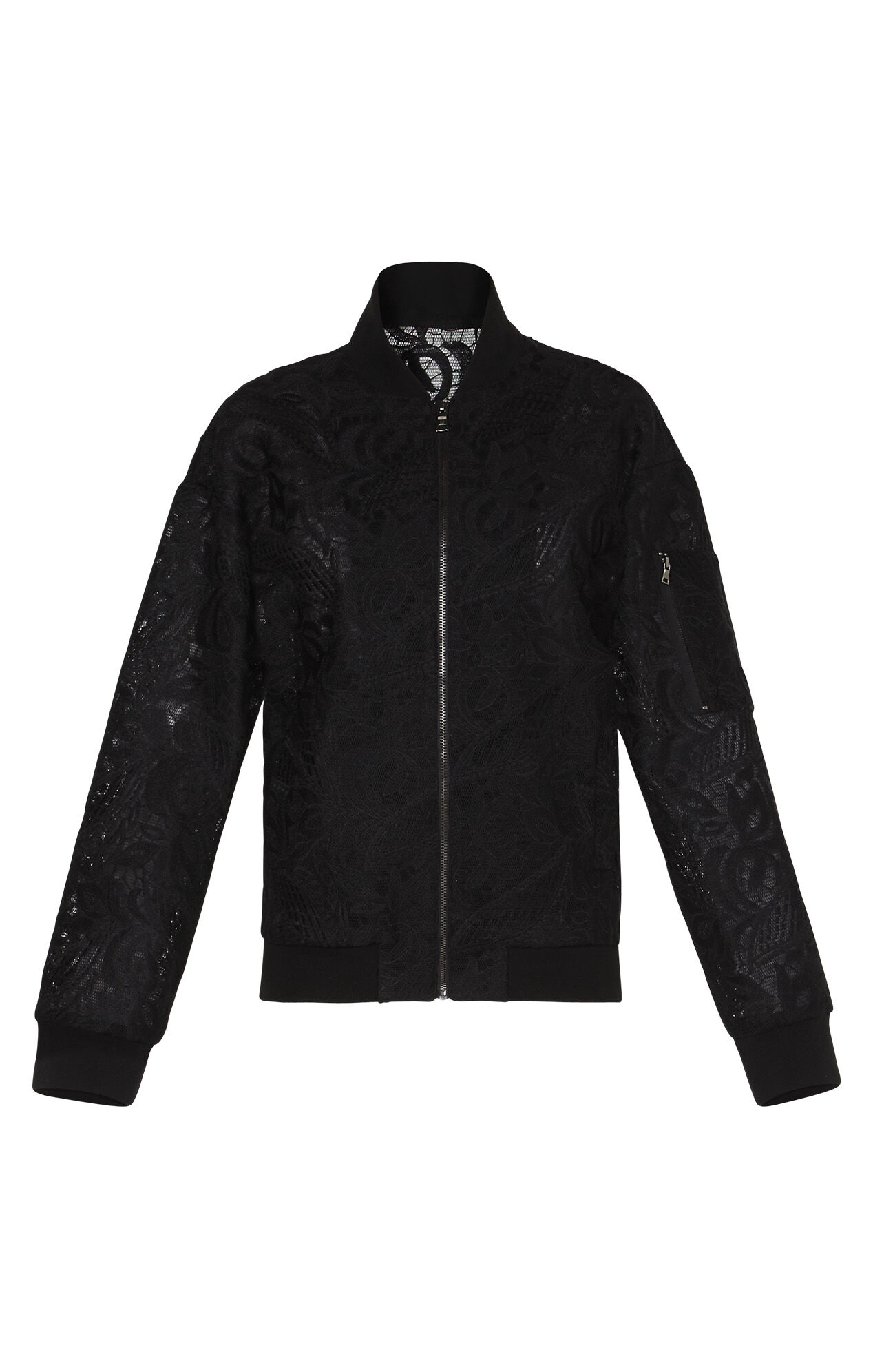 Brice Floral Lace Bomber Jacket