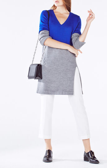 Macki Color-Blocked Tunic Sweater