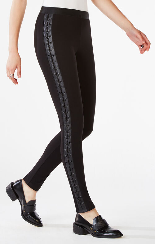 Jaims Lace-Up Ponte Legging