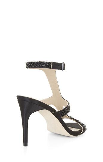 Ping Mid-Heel Satin Sandal