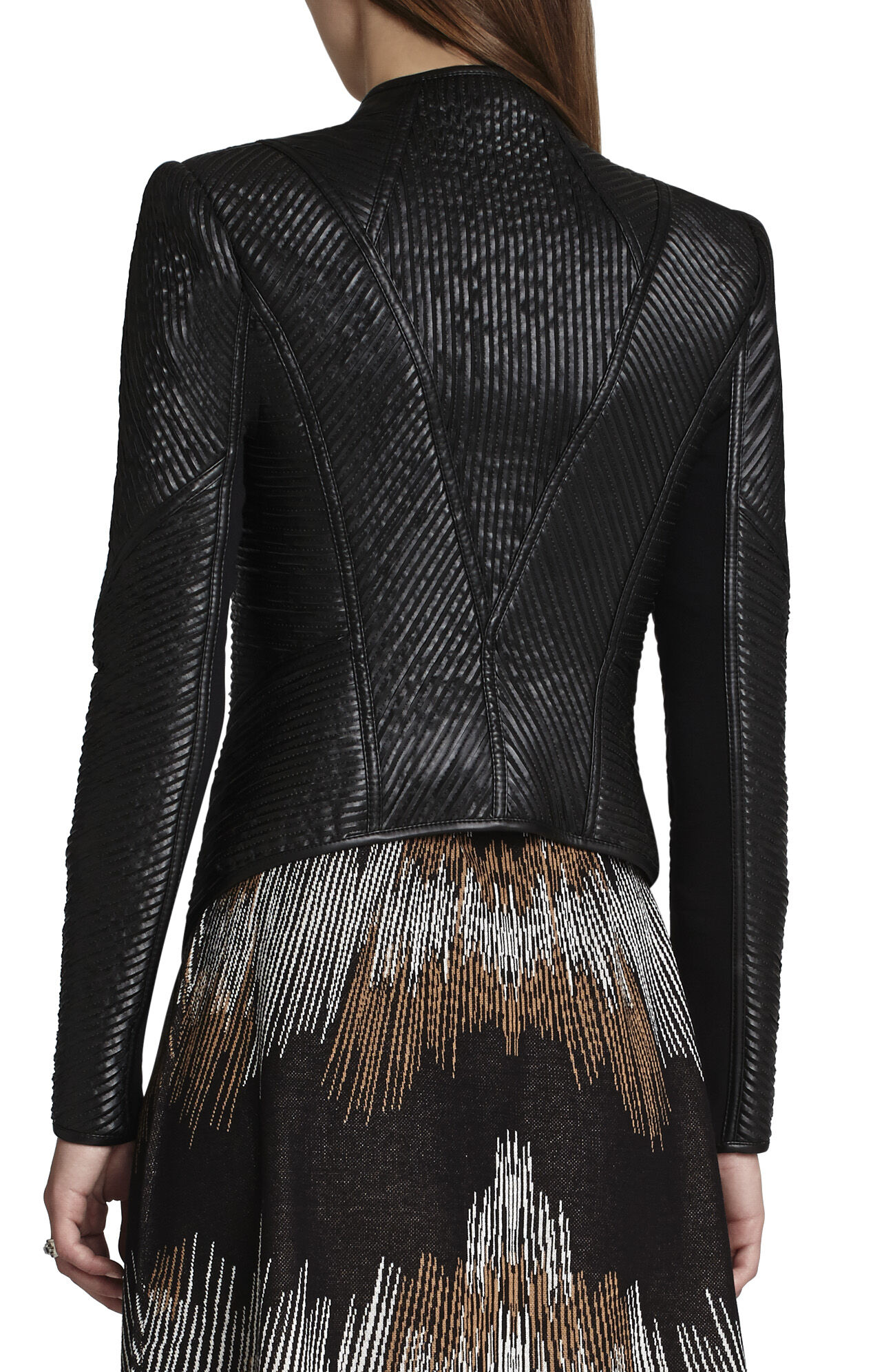 Jagger Pleather-Strapped Biker Jacket