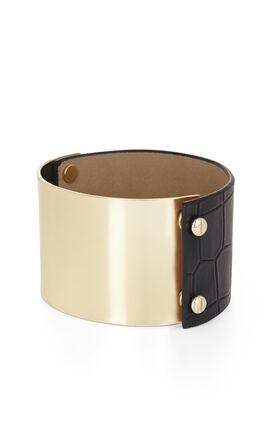 Faux Croco-Embossed Plate Bracelet
