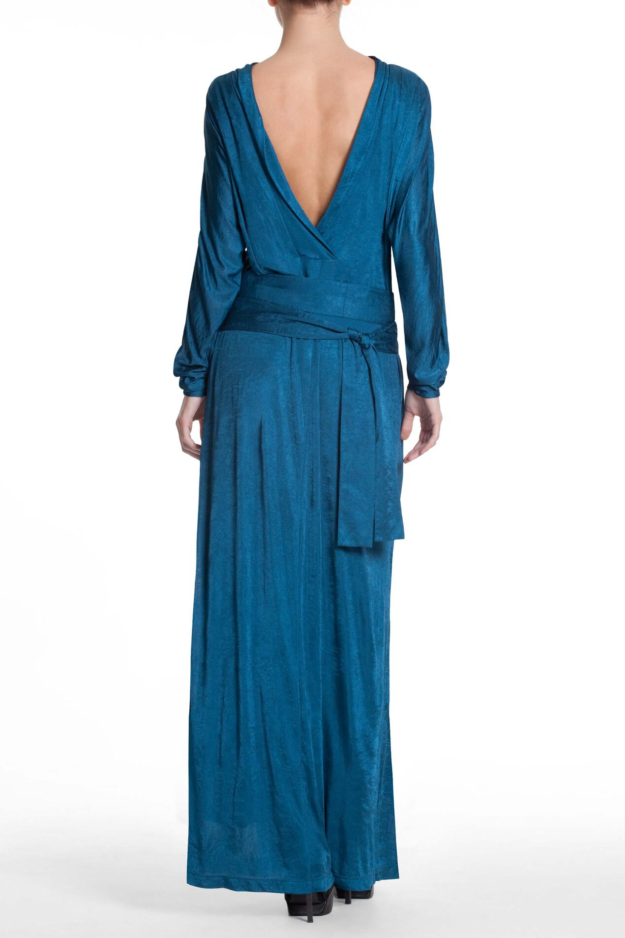 Runway Ruched Center Front Maxi Dress