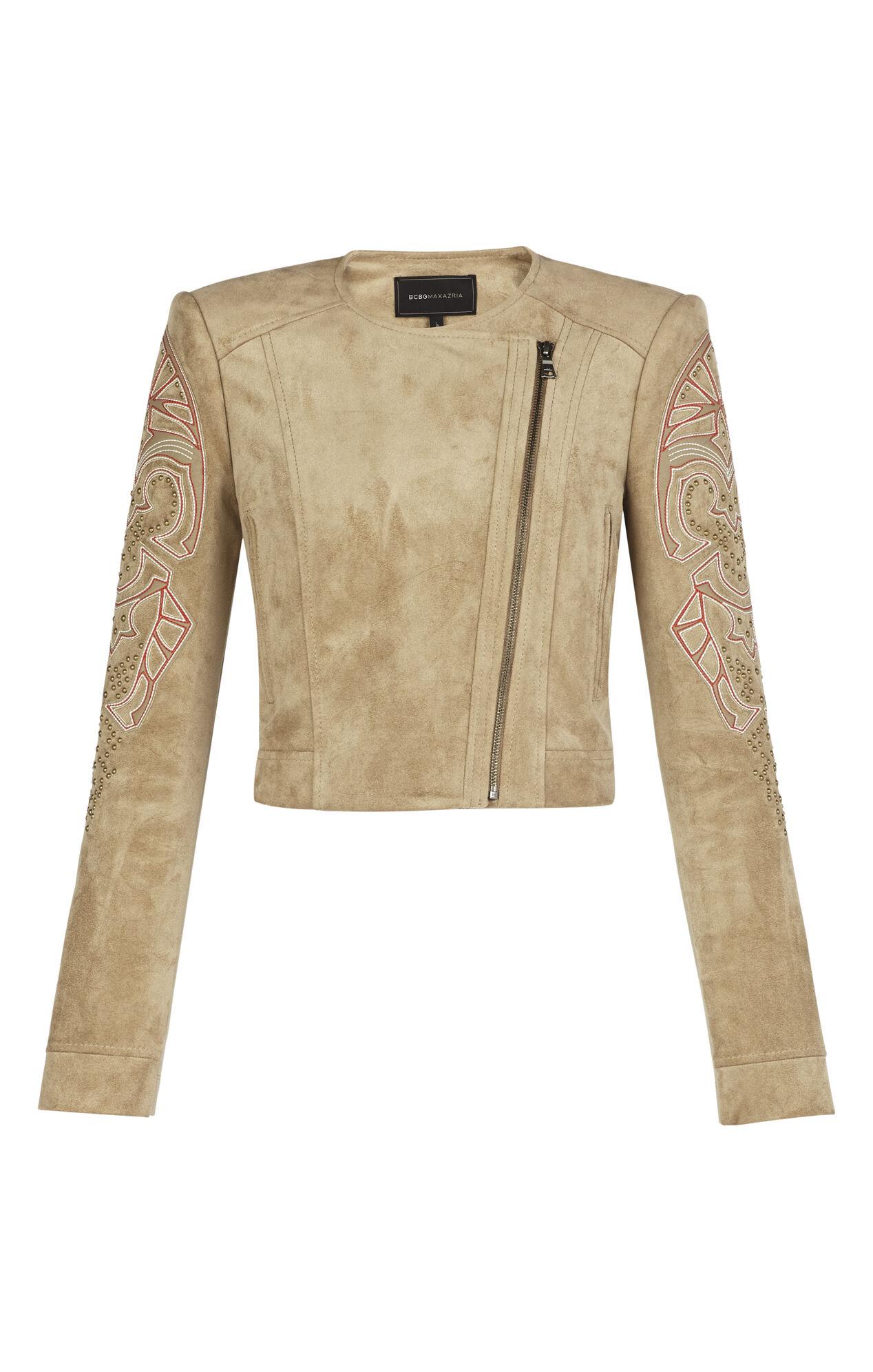 Nicholas Applique Suede Jacket