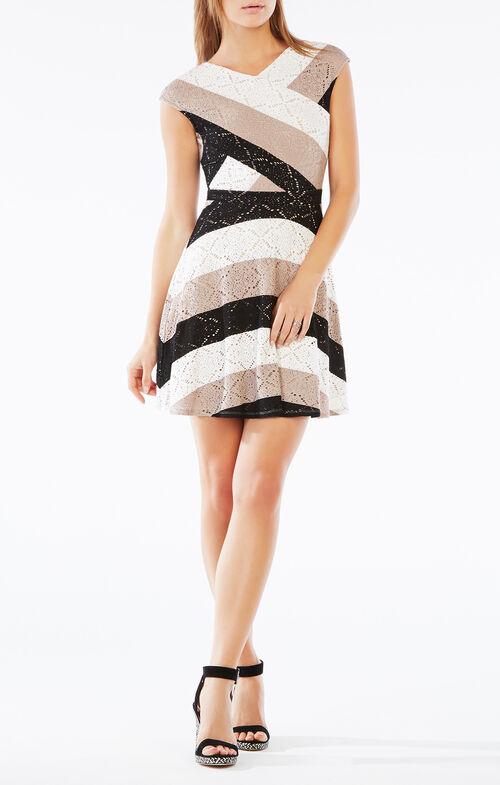 Jasmyne Striped Lace Dress