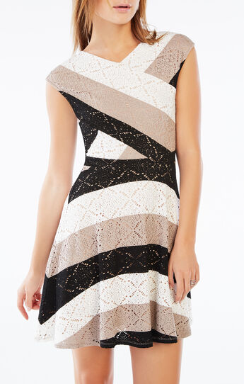 Jasmyne Striped Lace Dress