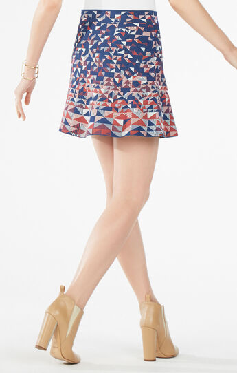 Queeney Triangle Knit Jacquard Skirt