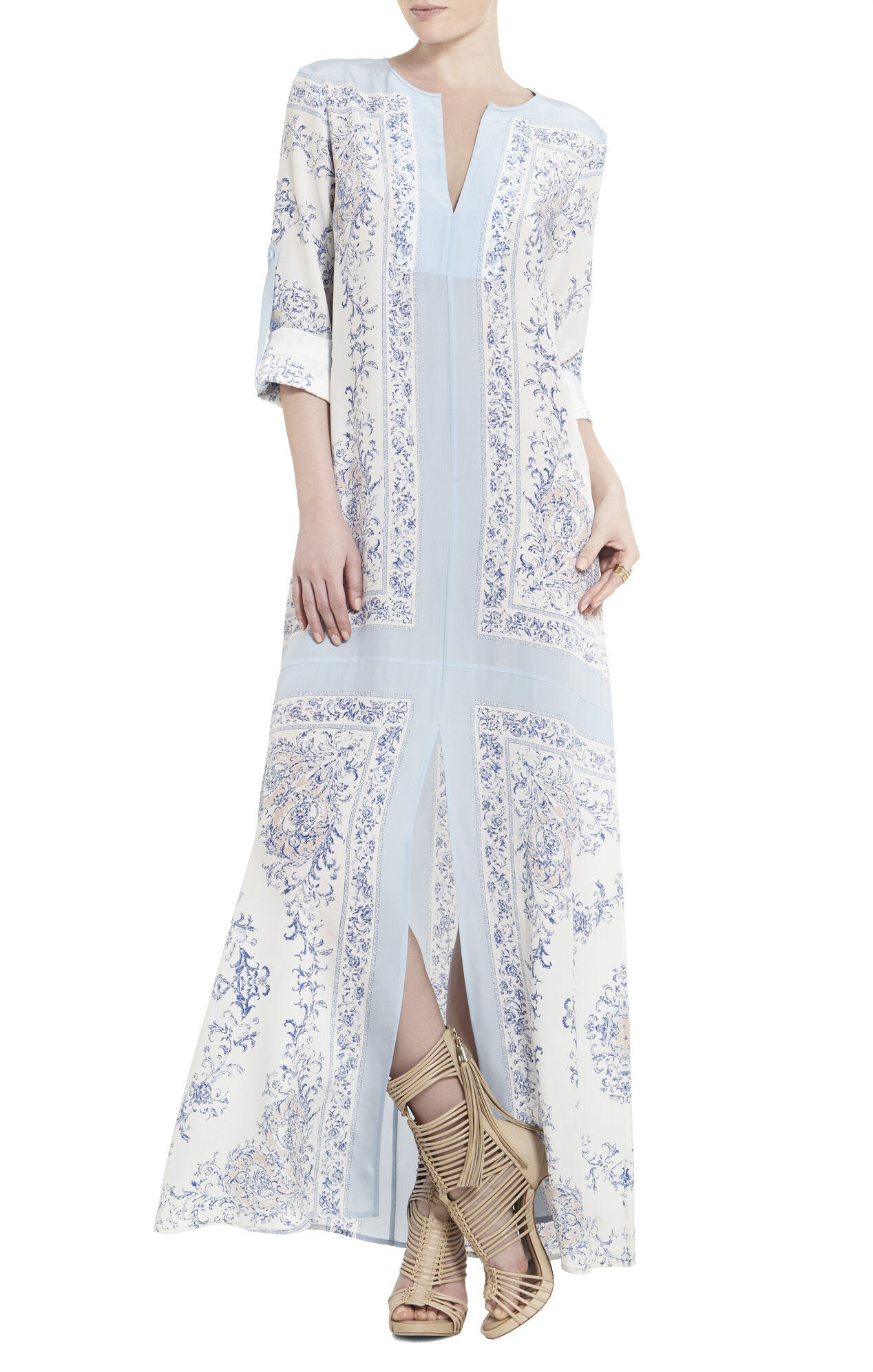 Olivia Scarf-Printed Tunic Dress