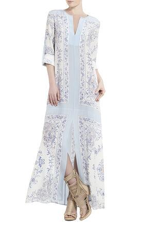 Olivia Scarf-Printed Tunic Dress