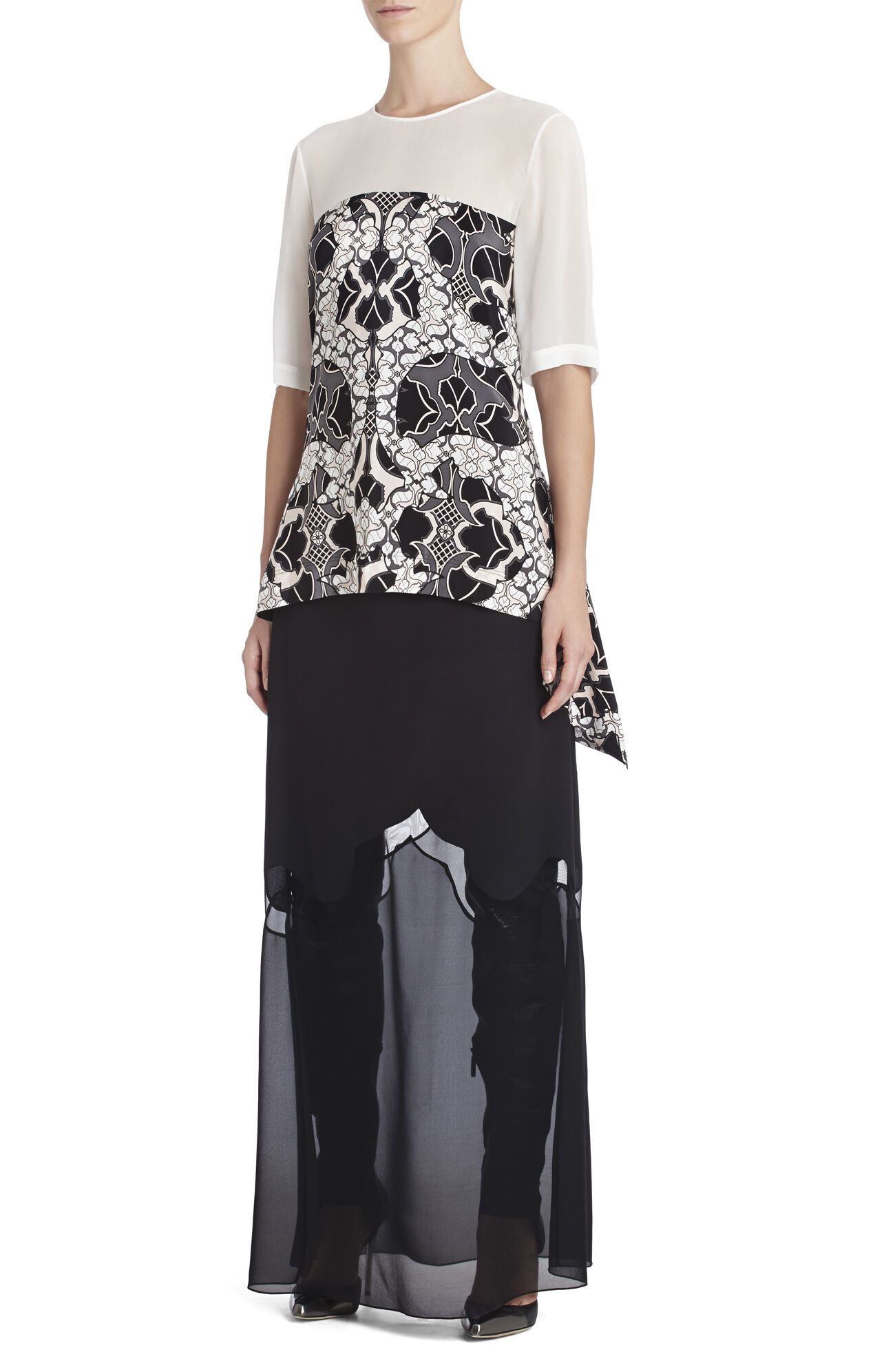 Runway Esen Silk Printed Top