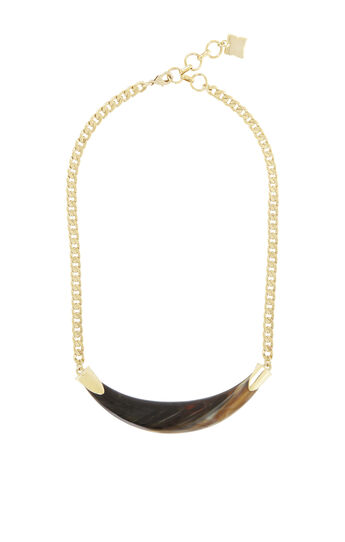 Faux Horn Necklace