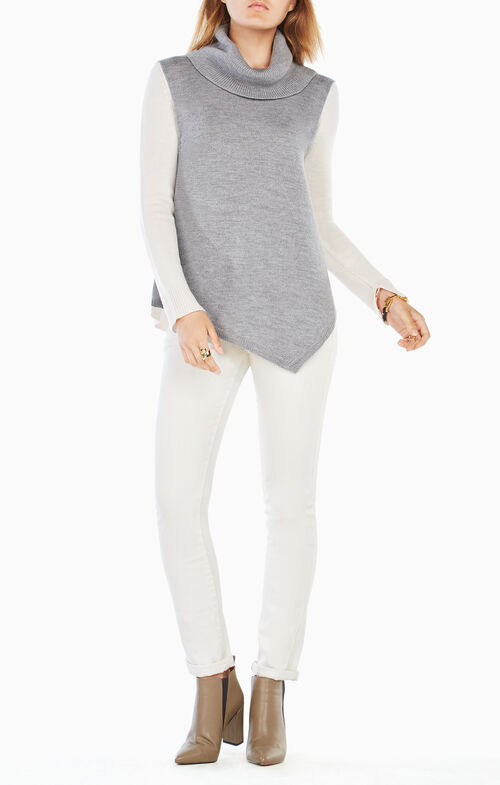 Waris Color-Blocked Turtleneck Sweater