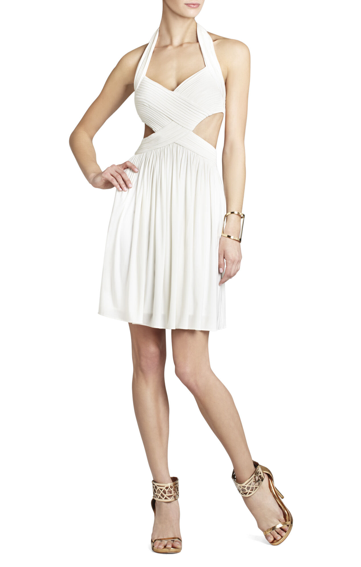 Shea Halter Cutout Cocktail Dress