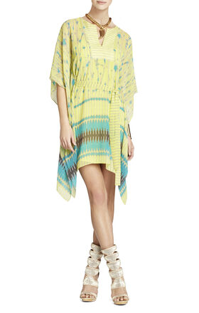 Eva Scarf-Print Dress