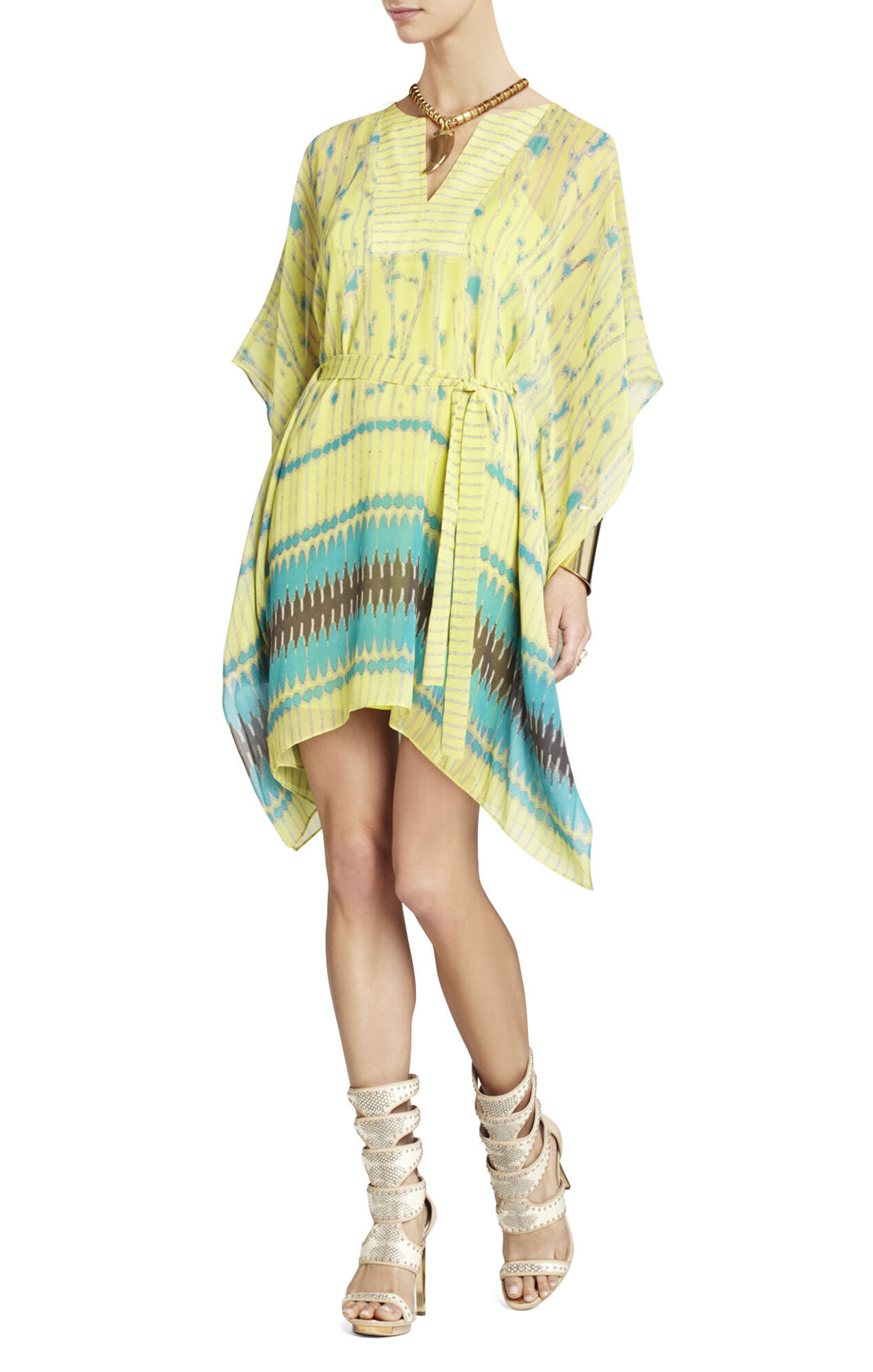 Eva Scarf-Print Dress