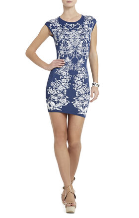 Ellena Luxe Floral Jacquard Dress