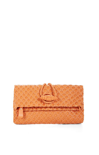 Ariela Woven Leather Clutch