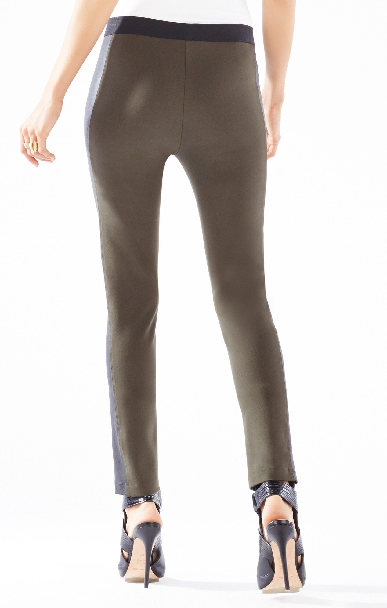 Wilmer Color-Blocked Faux-Leather Leggings