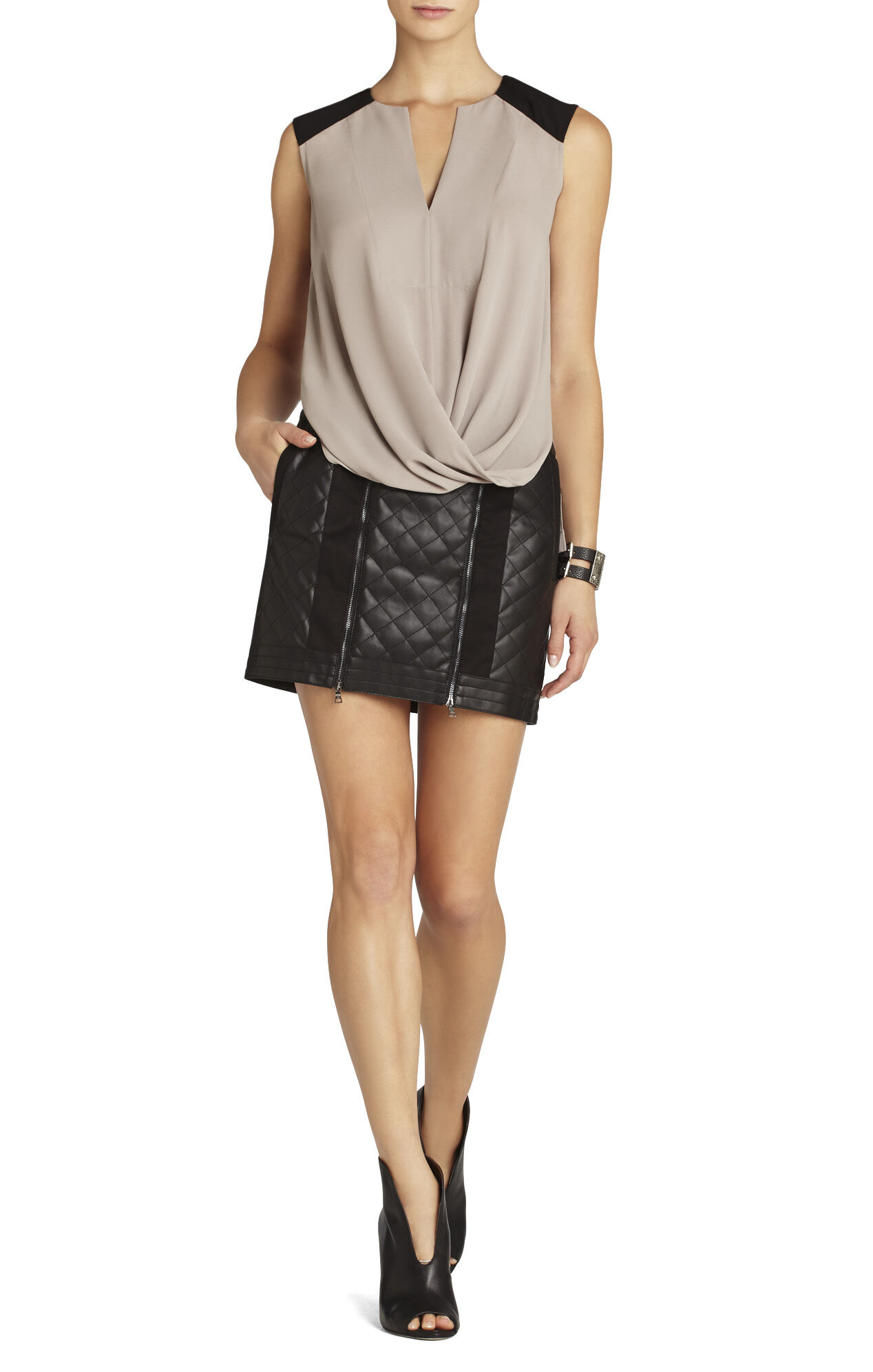 Gisele Draped Sleeveless Top