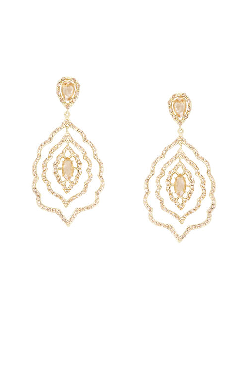 Pave Floral Statement Earrings