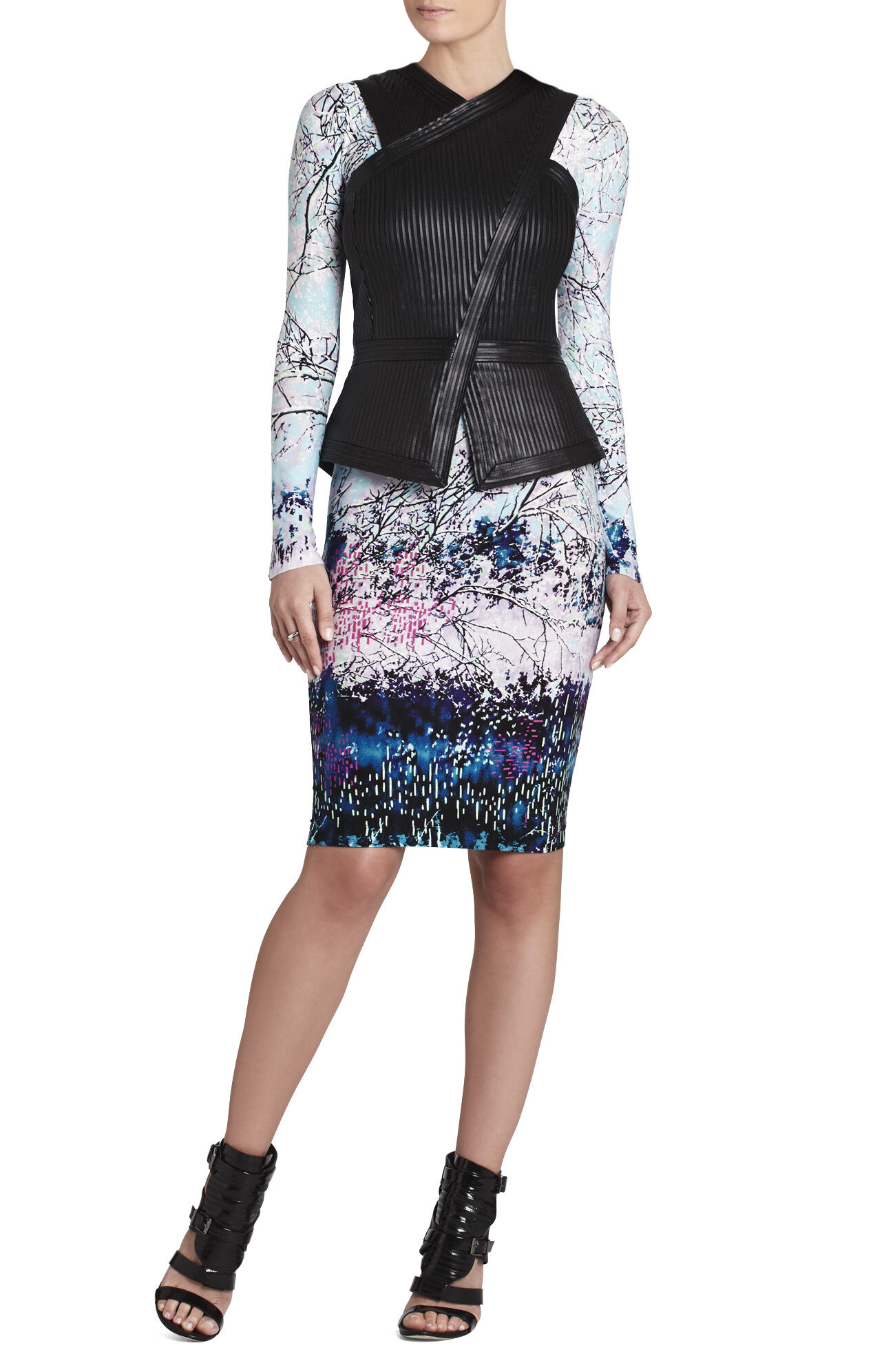 Voletta Boatneck Long-Sleeve Dress
